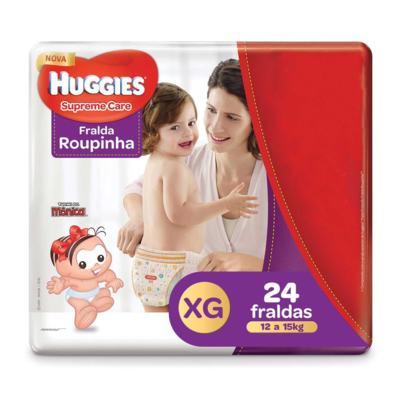 Fralda Roupinha Huggies Supreme Care - XG | 24 unidades
