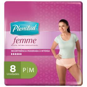 Roupa Íntima Plenitud Femme - P/M | 8 unidades