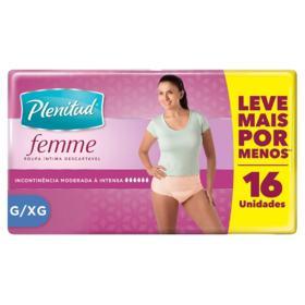 Roupa Íntima Plenitud Femme - G/XG | 16 unidades