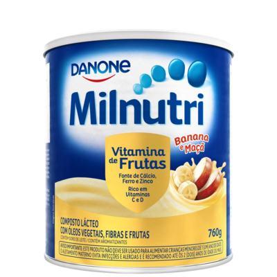 Composto Lácteo Milnutri - Vitamina de Frutas Sabor Banana e Maça | 760g