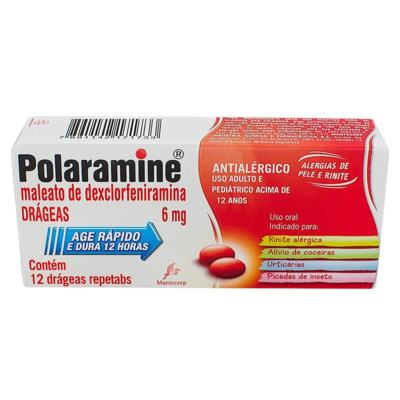 Polaramine - 6mg Antialérgico | 12 comprimidos