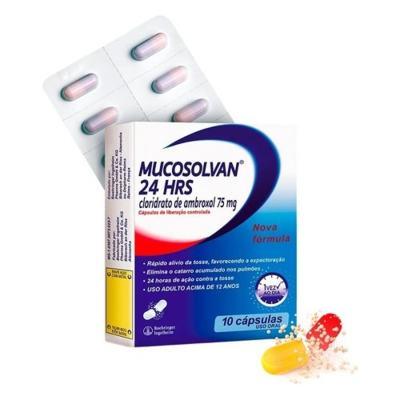 Mucosolvan 24 Horas - 75mg   10 cápsulas