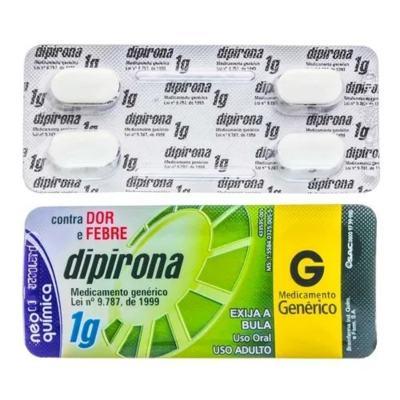 Dipirona Sódica Genérico Neo Quimica - 500mg   4 comprimidos