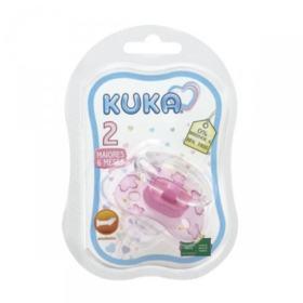 Chupeta Premium Ortodôntica - Kuka - Fase 2 Rosa   1 unidade