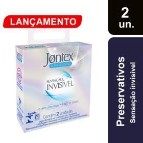 Preservativo Camisinha Jontex - Sensação Invisível   2 Unidades