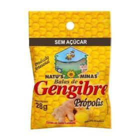 Natus Minas Bala de Gengibre - Sem Açúcar   55g