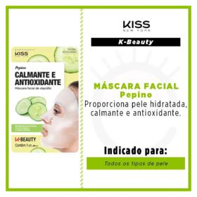 Máscara Facial Kiss NY - Pepino | 1 Unidade
