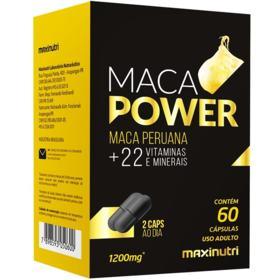 Maca Peruana Maca Power Maxinutri - 1200mg   60 Cápsulas