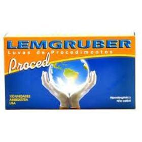 Luva de Látex Não Estéril Lemgruber Proced - Com Pó, Tamanho G | 100 unidades