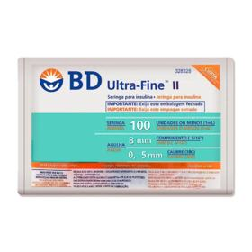 Seringa para Insulina BD Ultra-Fine II - 100U 8mm | 10 unidades