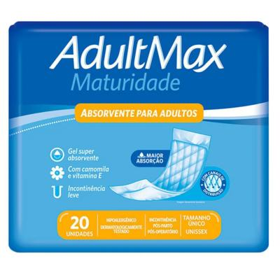 Absorvente Geriátrico Adultmax Maturidade - 20 unidades