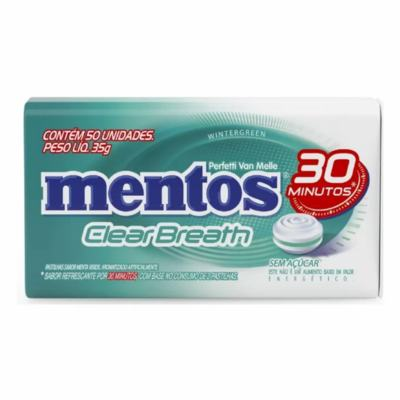 Pastilha Mentos Clear Breath - wintergreen | com 35g