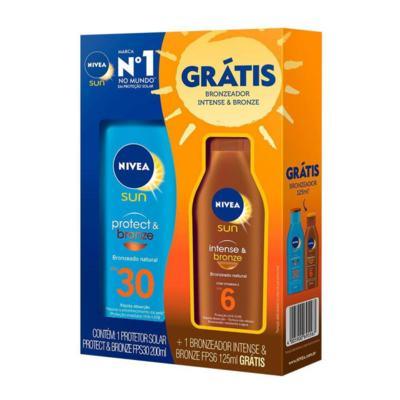 Kit Protetor Solar Nivea Sun Protect & Bronze - 2 unidades | + Bronzeador