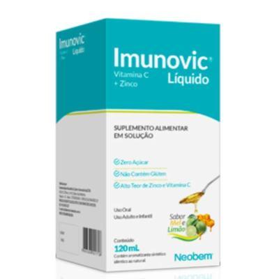 Suplemento Alimentar Imunovic - Sabor Mel e Limão   120ml