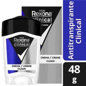 Desodorante Antitranspirante em Creme Rexona Men Clinical - Clean | 48g