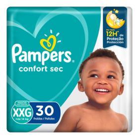 Fralda Pampers Confort Sec - XXG | 30 unidades