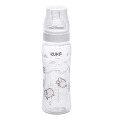 Mamadeira Kuka Natural Color - 0 a 6 meses, branca   1 unidade com capacidade de 250mL