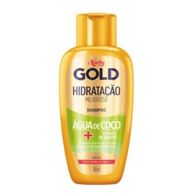 Shampoo Niely Gold Hidratação Milagrosa - Água de Coco | 300mL