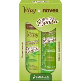 Kit Shampoo e Condicionador Vitay Novex - Broto de Bamboo   1 Kit   Shapoo 300mL e Condicionador 300mL
