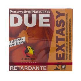 Due Preservativo Lubrificante - Extasy   3 unidades