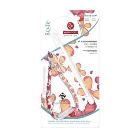 Kit Mundial Alicate Cutícula + Espátula Duplex - 2 unidades