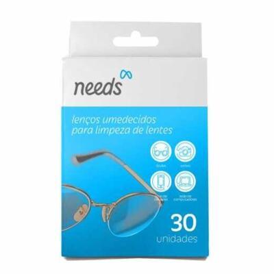 Needs Lenço Umedecido - Limpeza De Lente   30 comprimidos