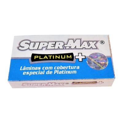 Lâmina de Barbear Super Max - Platinum   5 Unidades