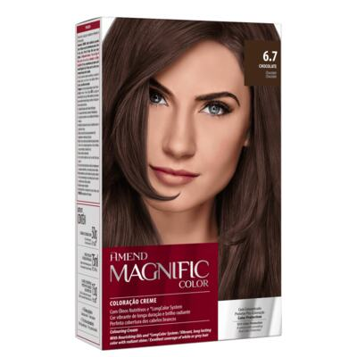 Coloração Creme Amend Magnific Color - 6.7 Chocolate | 1 Kit