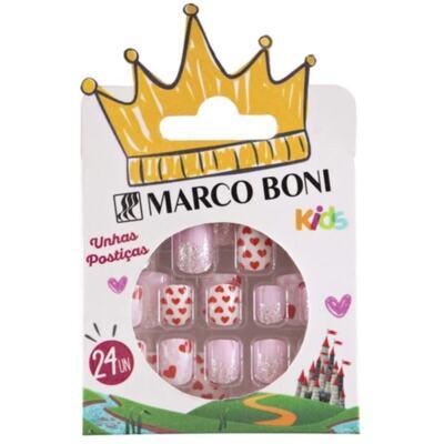 Unhas Postiças Auto Adesivas Infantil Marco Boni - Decoradas   24 unidades