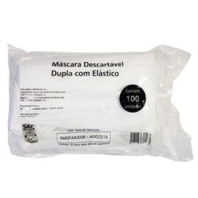 Máscara Cirúrgica Descartável Descarpack - Dupla com Elástico   100 unidades