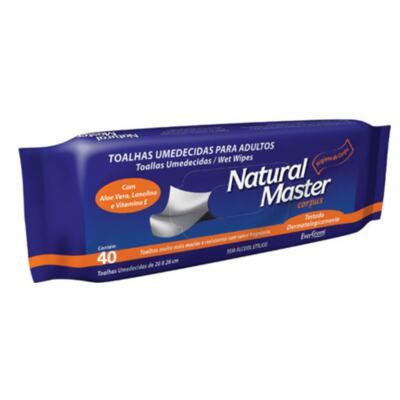 Toalhas Umedecidas Natural Master - Adulto | 40 unidades