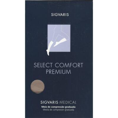 Meia Panturrilha 20-30 Select Comfort Premium Sigvaris - Natural Ponteira Aberta M