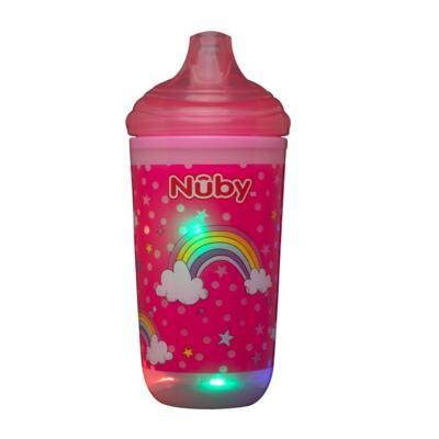 Copo Térmico Pisca-Pisca Easy Sip Nuby - 6m+ Rosa | 300ml