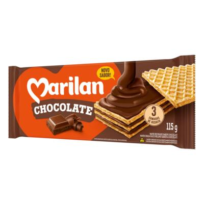 Biscoito Recheado Wafer Marilan - Chocolate | 115g