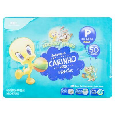 Fralda Descartável Baby Looney Tunes - Tamanho P   50 Unidades