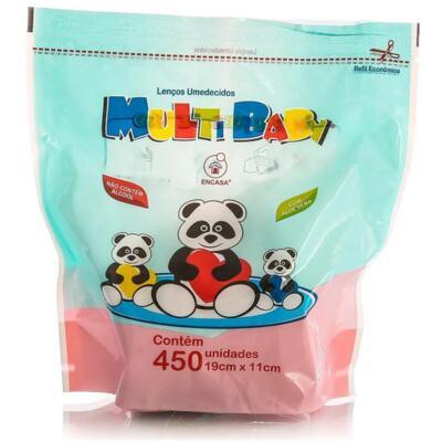 Lenços Umedecidos Multi Baby Refil - Aloe Vera   450 unidades