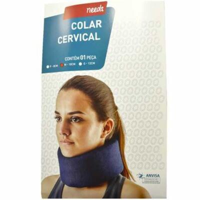 Colar Cervical De Espuma Needs - Tamanho M, Azul   1 unidade