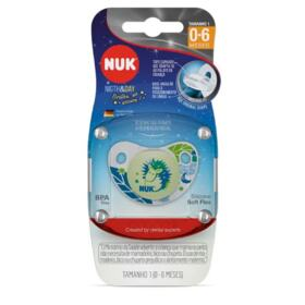 Chupeta Night & Day Nuk Trendline - 0 a 6 meses, cor azul   1 unidade