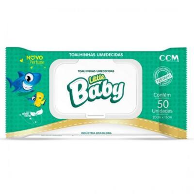 Toalhas Umedecidas Little Baby - com tampa   50 unidades