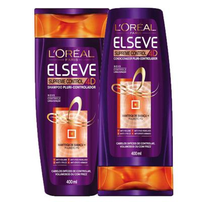 Imagem 1 do produto Kit Shampoo + Condicionador L'Oréal Paris Elseve Supreme Control 4d - Kit
