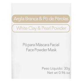 Máscara Facial Elemento Mineral Argila Branca com Pó de Pérolas - 30g