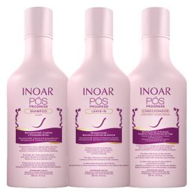 Kit Shampoo + Condicionador + Leave In Inoar Pós Progress - Kit
