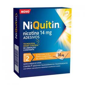 Niquitin Clear 14mg 7 adesivos transdérmicos transparentes