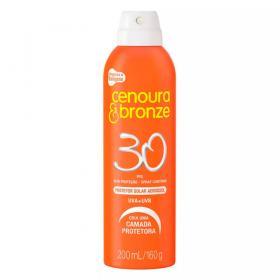 Protetor Solar Cenoura & Bronze FPS 30 Aerosol 200ml