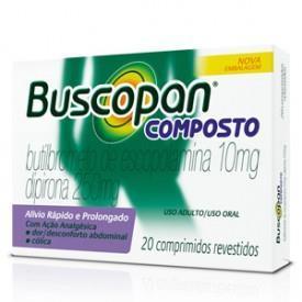 Buscopan Composto Adulto 10mg+250mg 20 comprimidos