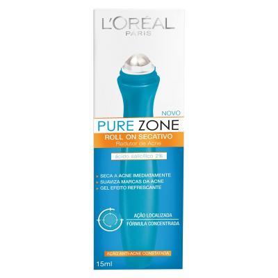 Gel Secativo L'Oréal Pure Zone Roll On 15ml