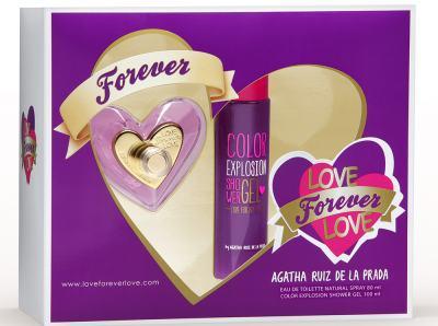 Imagem 1 do produto Kit Love Forever Love de Agatha Ruiz de La Prada Eau de Toilette Feminino - 80 ml + Shower Gel 100 ml kit