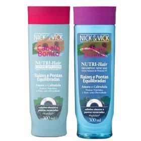 Kit Shampoo + Condicionador Nick & Vick Nutri-Hair Raízes e Pontas Equilibradas - Kit