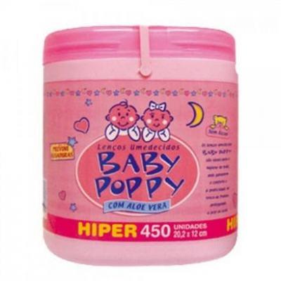 Lenço Umedecido Baby Poppy Rosa 450 unidades