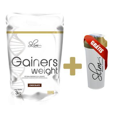 Gainers Weight Refil 3k - Slim - Chocolate Grátis uma Coqueteleira. -